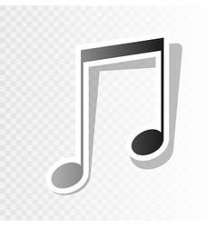music sign new year blackish vector image