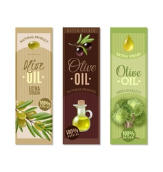 Olive Vertical Banners Set vector image