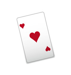 poker ace card playing casino vector image