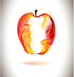 Red abstract apple vector image