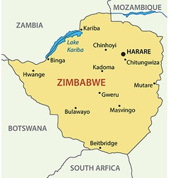 Republic of Zimbabwe - map vector image
