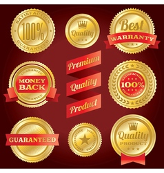 Satisfaction Guarantee Warranty Badges and Labels vector