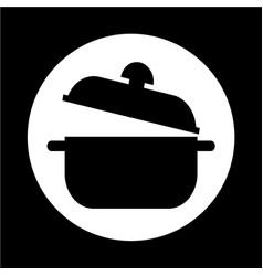 saucepan icon vector image