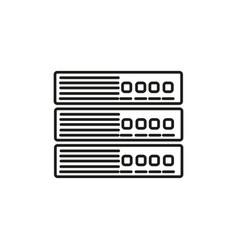 server icon vector image