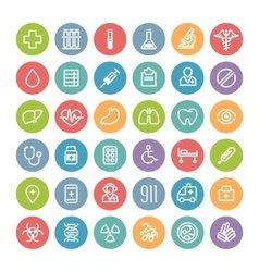 Set of Flat Round Medical Icons vector image