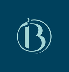 sign the letter b vector image