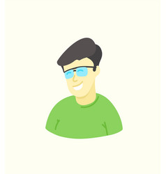 Sketchy style artistic character man with glasses vector