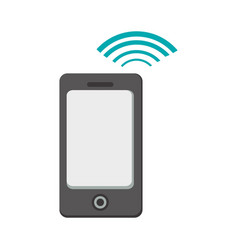 smartphone with connection wifi vector image