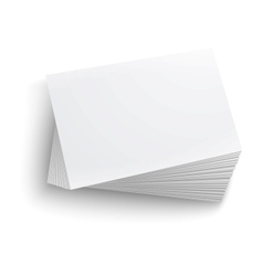 Stack blank business card vector
