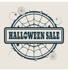 Stamp with Halloween Sale text vector