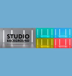 studio background set vector image