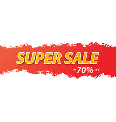 super sale tag for webpage vector image