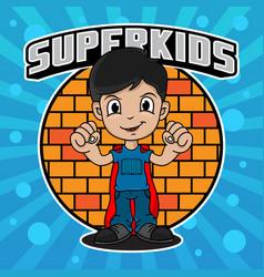 superhero kids design vector image