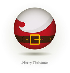 The beard of santa claus icon vector