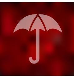 Umbrella icon on blurred background vector