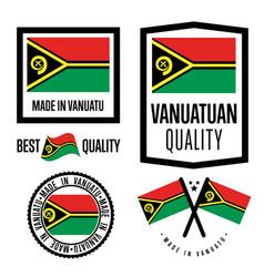 Vanuatu quality label set for goods vector