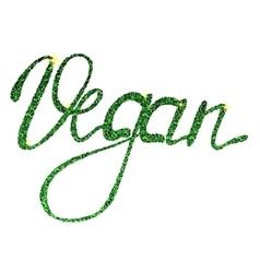 Vegan lettering tinsels vector