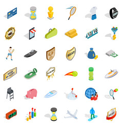 Victory icons set isometric style vector