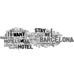 Which hotels you should stay in in spain text vector