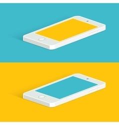 White infographic phone Isometric view vector image