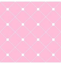 White Square Diamond Grid Light Pink Background vector