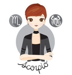 Woman With Scorpio Zodiac Sign vector image