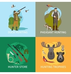 Animals hunting concepts vector