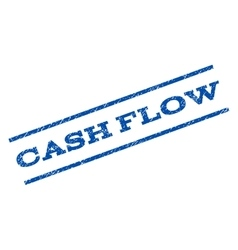 Cash flow watermark stamp vector