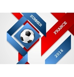 Euro football championship in france corporate vector