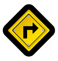 metal notice with arrow sign icon vector image