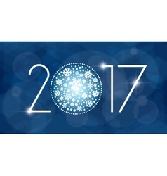 New year 2017 with white vector image vector image
