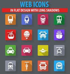 public transport icons set vector image