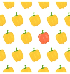 Sweet pepper seamless pattern vector image vector image