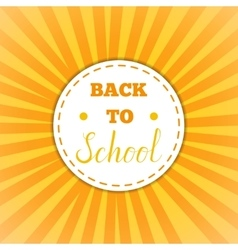 Back to school retro round sticker vector image vector image
