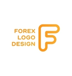 F letter forex trending quality business logo vector image vector image