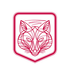 fox head crest monoline vector image