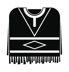Mexican poncho icon simple style vector