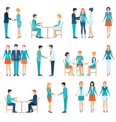 partnership business people vector image vector image