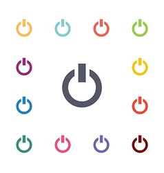 power flat icons set vector image vector image