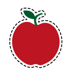 red whole apple icon image vector image