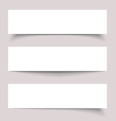 Banners with shadows vector image