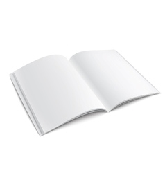 Blank opened magazine template with soft shadows vector image