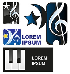 Classical music symbol vector image vector image