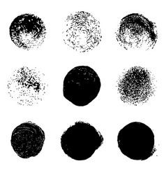 grunge stains set on white background vector image