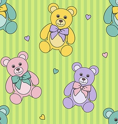 teddy bears pattern vector image vector image