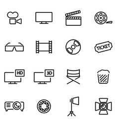 thin line icons - cinema vector image