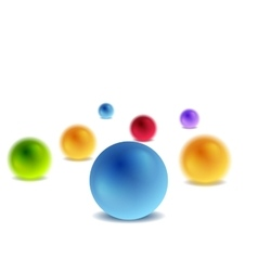 Bright 3d balls on white for infographic design vector image