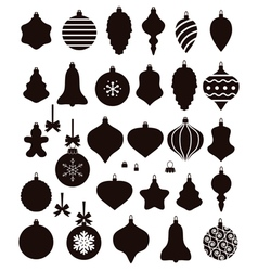 christmas ball shapes vector image vector image