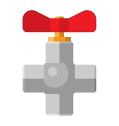 Gas or water crane flat icon vector image