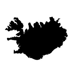 map - iceland vector image